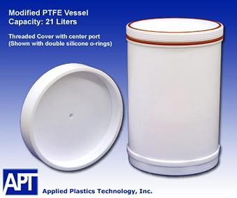 Modified PTFE Container, 21 Liter
